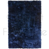 Whisper Shaggy Rug - Navy Blue - Size 90 x 150 cm (3' x 5')