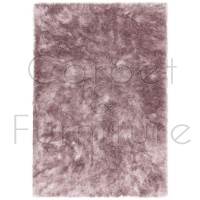 Whisper Shaggy Rug - Pink - Size 120 x 180 cm (4' x 6')