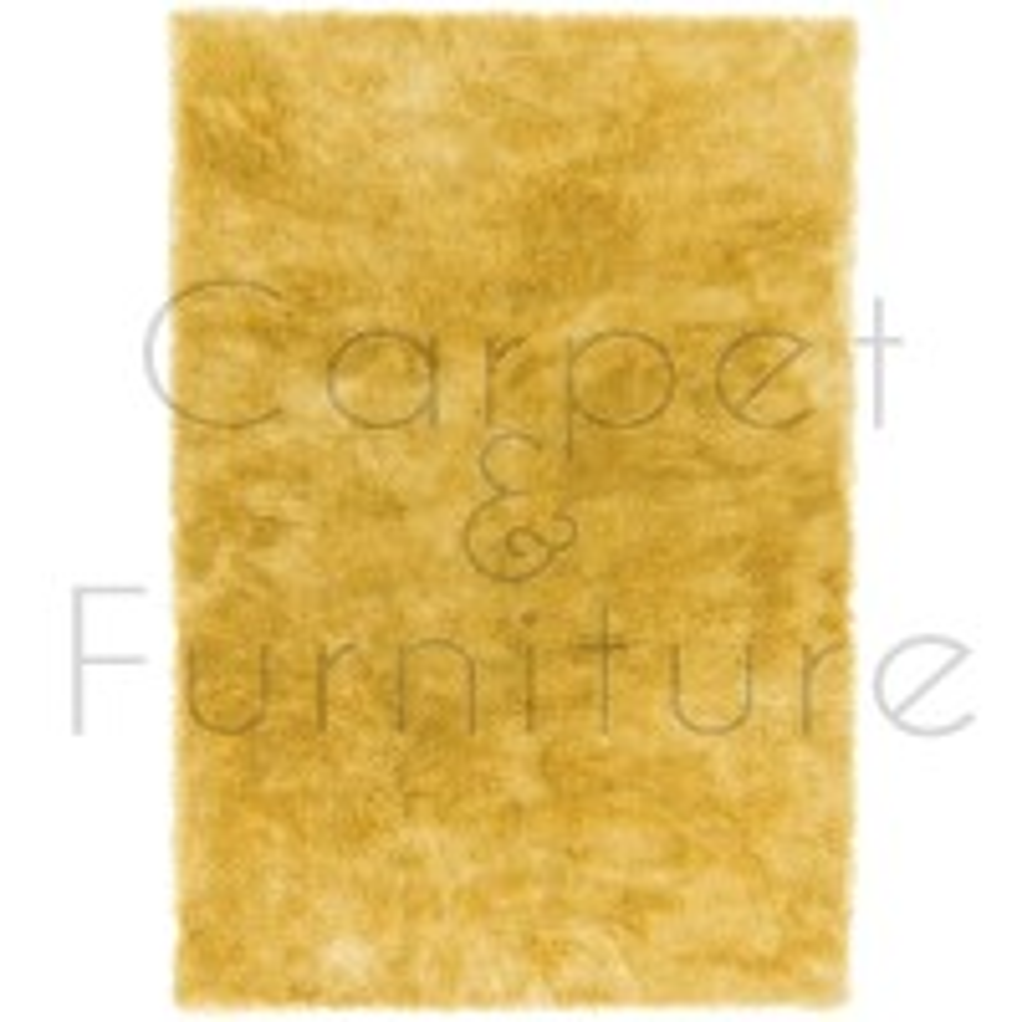 "Whisper Shaggy Rug - Yellow - Size 140 x 200 cm (4'7"" x 6'7"")"